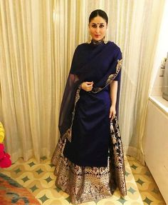 Kareena Kapoor Khan looks Super Gorgeous in Indian wear, view pictures Sharara Designs, Lehenga Designs, Indian Attire, Indian Ethnic Wear, Indian Wedding Outfits, Indian Outfits, Indian Engagement Outfit, Engagement Dress For Bride, Dresses To Wear To A Wedding
