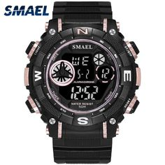 ef14920f675 Digital Wristwatches Sports Waterproof SMAEL Watch S Shock Montre Mens  Military Watches Top Brand 1317 Men Watches Digital LED