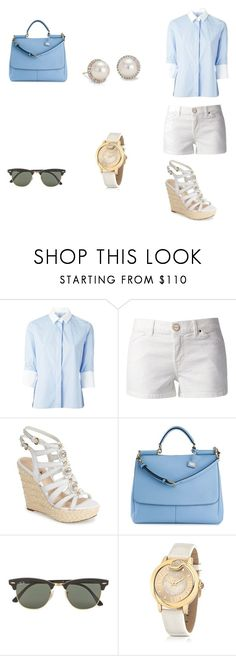 """43 outfit"" by bangitj1234 ❤ liked on Polyvore featuring Valentino, Pinko, GUESS, Dolce&Gabbana, Ray-Ban, Just Cavalli and Blue Nile"