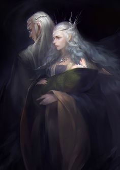 Thranduil, his wife and baby Legolas by 花弟