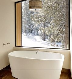 what a view for a soak in the bathtub!  #home #decor