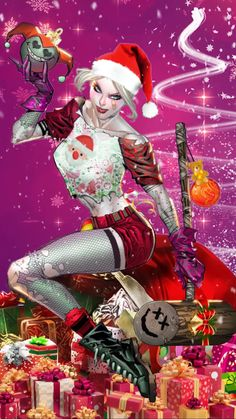 Christmas Home Videos Cartoon Harley Quinn, Joker And Harley, Merry Christmas And Happy New Year, Christmas Love, Christmas Pictures, Merry Christmas Santa, Motion Images, Images Gif, Mery Chrismas