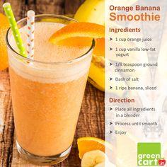 Orange Banana Smoothie Recipe Orange packs calcium & Vitamin C Yogurt ...