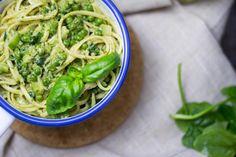 Linguine mit Erbsen, Brokkoli und Spinat