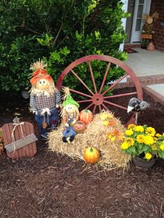 words are flowing out.. ♫♫: Outdoor Fall Decor