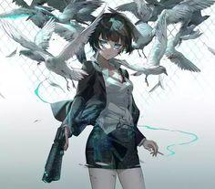 Cool Anime Girl, Anime Art Girl, Manga Art, Anime Girls, Anime Chibi, Manga Anime, Character Art, Character Design, Psycho Pass