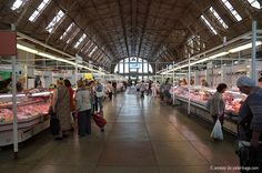 The central market in riga and locals shopping groceries