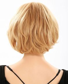 15 Chic Short Haircuts: Bob Hairstyle Back View - The smooth short hairstyle looks luscious and fun. Some textures below the ears create the hairstyle an ideal oval silhouette. The stylish hairstyle can turn every day into an exciting one and is suitable for women from all age groups.