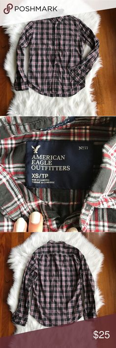 {AEO} Plaid Casual Button Down Shirt Excellent pre worn condition. Athletic fit. All sales final. American Eagle Outfitters Shirts Casual Button Down Shirts