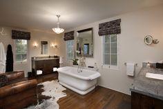 ledge mounted faucet... great tub!