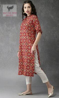 Long Kurta Designs, Simple Kurta Designs, Kurta Designs Women, Blouse Designs, Casual Indian Fashion, Indian Fashion Dresses, Over 50 Womens Fashion, Stylish Dresses For Girls, Simple Dresses