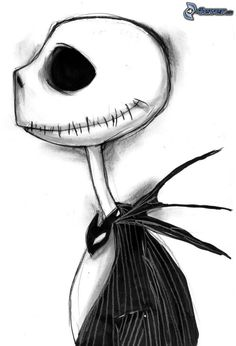 The Nightmare Before Christmas Jack Skellington Scary Drawings, Halloween Drawings, Dark Art Drawings, Pencil Art Drawings, Disney Drawings, Cute Drawings, Drawing Sketches, Tim Burton Stil, Tim Burton Kunst