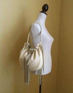 cream vanilla leather handbag shoulder purse with by tuscada