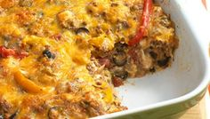 This nacho casserole is so delicious that I could eat an entire pan!