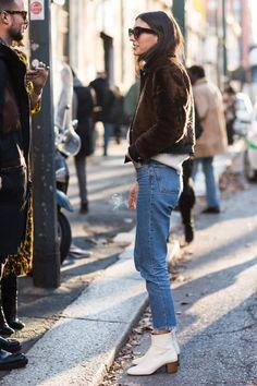 Women's Streetstyle at Men Fashion Weeks 2016