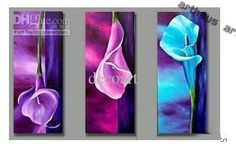 Wholesale Oil Painting decoration Handmade High Quality Modern Abstract on Canvas art lily calla flower FLL005, $19.67-44.46/Piece | DHgate