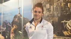 Ruby Harrold, 20 from Bristol. She has exceptional strength and style as a gymnast. In past two years won bronze and silver in European championships