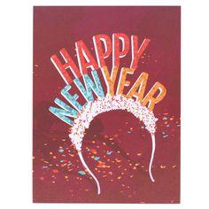Happy New Year Headband Card