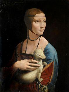 Oil painting Leonardo da Vinci nice young woman with her pet Ferrets ermine art Framed Canvas Prints, Artwork Prints, Fine Art Prints, Canvas Art, Dachshund, Lady With An Ermine, Color Fantasia, Mona Lisa, Renaissance Kunst