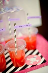 Love the idea to serve drinks at a toddler party in lidded cups - viaKaras Party Ideas