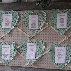 Annemarie and Rhys's wedding had accents of pretty mint green - we love this pastel table plan! #hitchedrealwedding