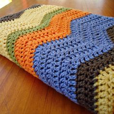 ripple blanket. nice colors