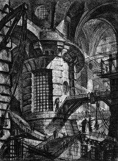 PIRANESI, Giovanni Battista Carceri d'Invenzione, Plate III, 1761 Etching. British Museum Collection, London