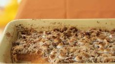 """Sweet Potato Casserole With Marshmallows   Our reviewers rave about this sweet potato casserole recipe claiming that """"family members who didn't like sweet potatoes are now fans."""