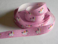 "Unicorn Ribbon Grosgrain 5 yards of 1"" Purple Rainbow Mane Unicorn Print Ribbon For Hair Bows Birthday Party Favor Ties Fairy Tale Magical by HouseofHairDecor on Etsy"