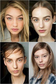 'No makeup' look NYFW