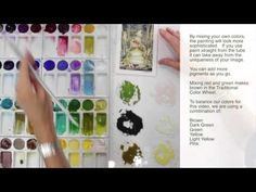 How to Paint Using Watercolor Techniques by Jody Bergsma (Frogs). It has very precise instructions including how to mix shadows. A little technique is helpful for watercolor.