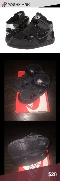 Son of Force Mid (TD) Son of Force Mid (TD) black/black-metallic silver. Size:6c (boys) Nike Shoes Sneakers