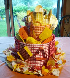Bridal Shower Tea Towel Cake