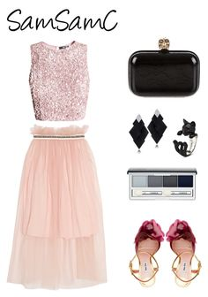 """Untitled #244"" by samchoo ❤ liked on Polyvore featuring Mother of Pearl, Miu Miu, Alexander McQueen, Clinique and Roberto Demeglio"