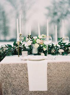 Wedding Venue: Foxhall Resort and Sporting Club - http://www.stylemepretty.com/portfolio/foxhall-resort-and-sporting-club Floral Design: Holly Bryan Floral and Botanical Design - http://www.stylemepretty.com/portfolio/holly-bryan-floral-and-botanical-design Photography: Gracie Blue Photography - http://www.stylemepretty.com/portfolio/gracie-blue-photography   Read More on SMP: http://www.stylemepretty.com/2014/04/24/enchanted-winter-wedding-inspiration/