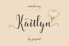 ⭐ 2 days to go - Free Font of The Week - KAITLYN SCRIPT Typeface ►