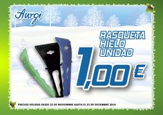 Oferta Navidad (22 de noviembre al 21 de diciembre 2014. AMPLIADO HASTA EL 12 DE ENERO DEL 2015) - Raqueta para hielo al mejor precio. Más información en www.aurgi.com/