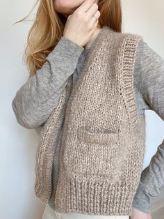My Favourite Things Knit Vest Pattern, Knitting Patterns, Baby Knitting, Vogue Knitting, Diy Clothes, Clothes For Women, Knitwear Fashion, Work Tops, Casual Fall Outfits