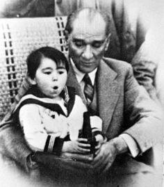 Ataturk and adopted daughter little Ulku