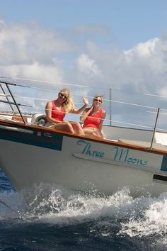 Yes, we really are working...Our Monday Morning Commute via charter yacht!
