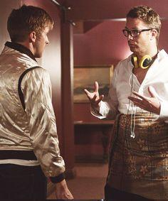 "Ryan Gosling And Nicolas Winding Refn on the set of ""Drive"" (2011)"