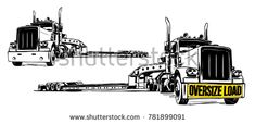 Find semi trailer truck stock images in HD and millions of other royalty-free stock photos, illustrations and vectors in the Shutterstock collection. Big Rig Trucks, Semi Trucks, Semi Trailer Truck, Lowboy, Truck Art, Peterbilt Trucks, Stock Photos, Cricut, Metal Art