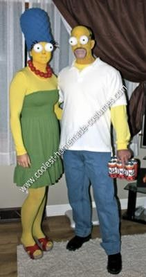 Coolest Homemade Simpsons Couple Halloween Costume Idea & Marge and Homer Simpson - Halloween Costume Contest at Costume-Works ...