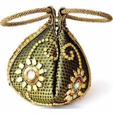 indian wedding potli bags Potli Bags, Sweet Bags, Brooch, Pendant Necklace, Indian, Wedding Bags, Jewelry, Fashion, Totes
