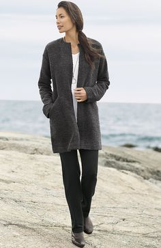 Pure Jill minimalist coat