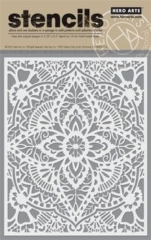 $6.99 Quantity  Place on paper, outline with a pencil or fine-tipped pen, or use daubers or a sponge to add patterns and splashes of color. Hero Arts original designs.  Stencils measure approximately 6.5 x 5.5 inches and are made on 10 mil. thick frosted Mylar.