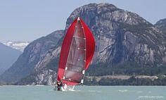 Sailing off Squamish in BC, Canada.