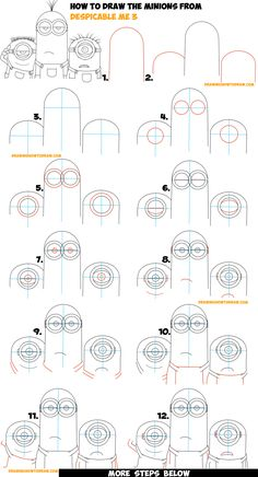 How to Draw the Minions from Despicable Me 3 Easy Step by Step Drawing Tutorial for Kids & Beginners (Maybe Kevin, Carl, & Jerry)