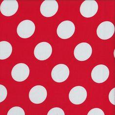 Dots - Red - Stenzo Poplin