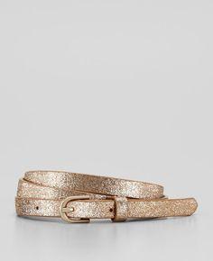 Perfect Glitter Skinny Belt- Ann Taylor